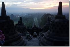 Dawn over Borobudur