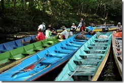 Our longboats for the easy part of our trek