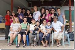 Group photo at Homestay