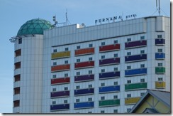 Our crazy coloured hotel
