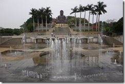 Buddha and fountains