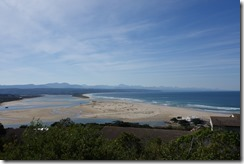 Looking down the hill into Plettenberg Bay