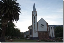 Striking architecture of the church in Oudtshoorn