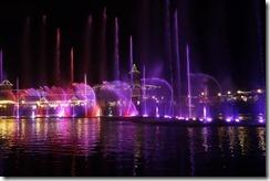 Music & lights fountain show at the Boardwalk Casino, Summerstrand