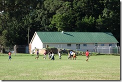 Local kids playing rugby