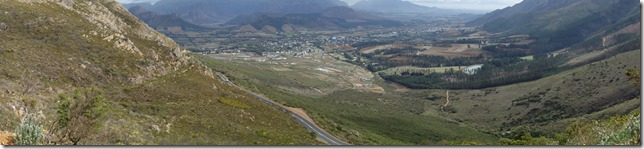 Looking down the valley into Franschhoek
