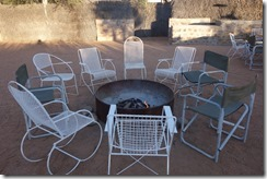 Outdoor dining and keeping warm