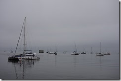 A grey day for boating