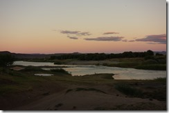 Looking down the Orange River