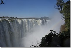 Looking along Victoria Falls