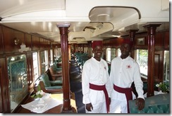 The waiters in the train