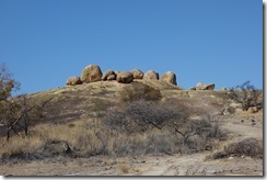 Big boulders at Rhodes grave
