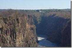 Victoria Falls Hotel from the bridge