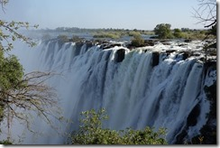 Zambia end of the falls