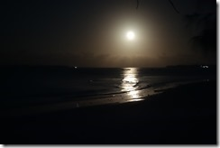 Full moon reflections on the ocean