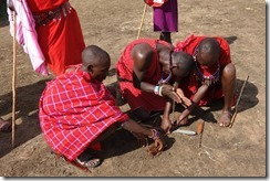 How many Maasai does it take to light a fire?