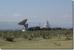 Incongruous TV relay station in the middle of the valley