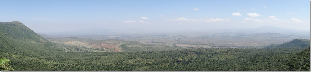 Looking out over the Great Rift Valley