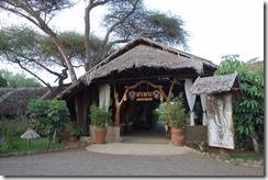 Entrance to Kibo Safari Lodge, Amboseli