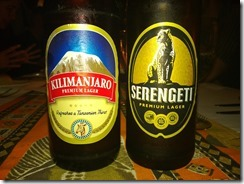 His and hers beers that summarise what we will be up to over the next week