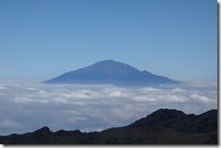 Mt Meru floating above the clouds