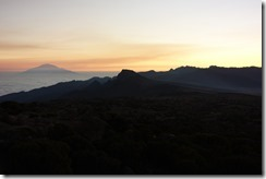 Sunset over Mt Meru