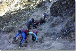 Climbing Baranco Wall!