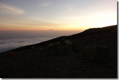 Our camp above the clouds