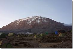 Camping in the shadow of Kibo peak