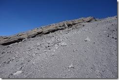 It was scree like this all the way to the summit