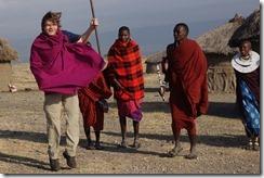 Chris jumping Maasi style