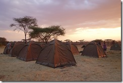 Our campsite in the heart of Serengeti
