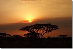 Sundown at camp
