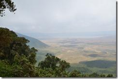 Overlooking Ngorogoro crater