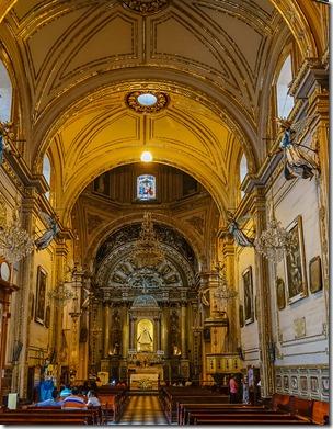 The interior of the Ex Convento de la Soledad