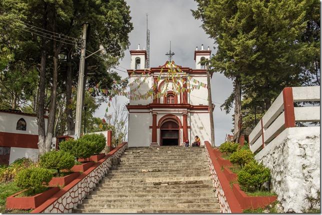 Looking up at San Cristobal
