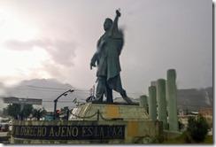 Random statue in the rain