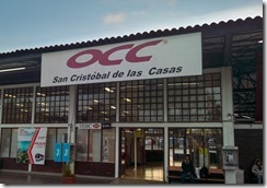 Bus station at San Cristobal