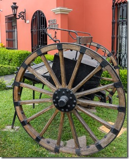 Outside Casa Suyay in Miraflores
