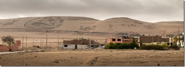 Symbols in the dunes outside Tacna
