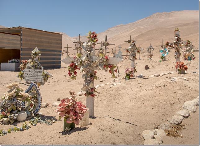 Simple graves in the desert