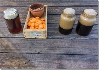 Tasty brew in jam jars