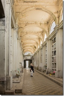 Inside a huge mausoleum