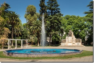 Fountain in Plaza Chile