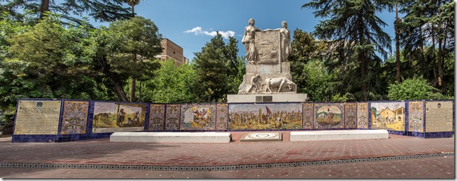 History of Mendoza in a mosaic