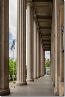 Pillars outside city hall