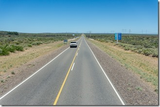Flat straight road out of Neuquen