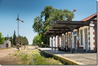 Rail station in the middle of town