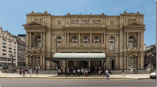Teatro Colon - supposedly even more spectacular inside