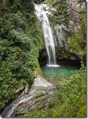 No swimming at the waterfall